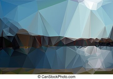landscape in a minimalist style. Triangular pattern. Vector...