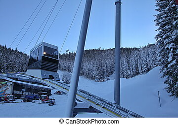 Cableway Twinliner in Jasna, Slovakia