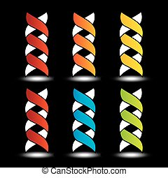 Set of colorful DNA logos