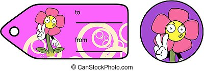 flower cartoon giftcard sticker5 - flower cartoon giftcard...