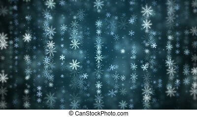 Winter Christmas background - Winter Christmas snowflakes...