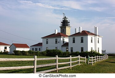 Lighthouse on the southern end of Jamestown, Rhode Island.