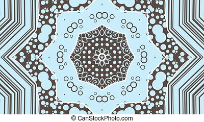 Blue kaleidoscopic loop - A video loop with a blue...