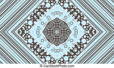 Blue kaleidoscopic animation - A video loop with a blue...