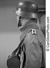 German soldier - dummy in the form of a German soldier