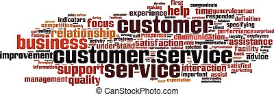 Customer Service word cloud concept Vector illustration