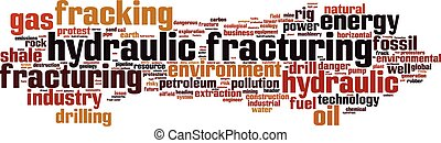 Hydraulic Fracturing word cloud concept Vector illustration