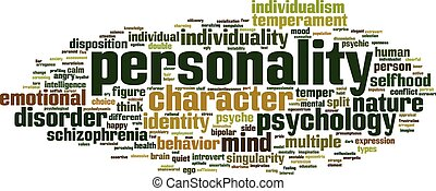Personality word cloud concept. Vector illustration