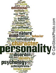 Personality word cloud concept Vector illustration