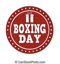 Boxing day stamp - Boxing day grunge rubber stamp on white,...