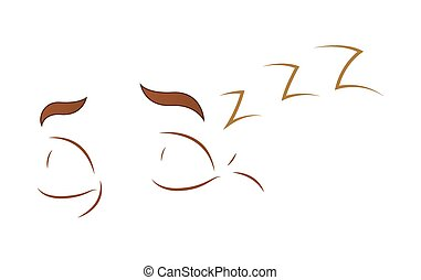 Sleeping Cartoon Eyes - Cartoon Lazy Sleeping Eyes...