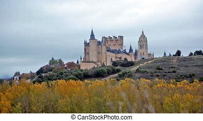 Alcazar of Segovia - View of Alcazar of Segovia in november....