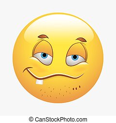 Smiling Funny Smiley - Cartoon Naughty Funny Smiling Smiley...