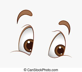 Happy Cartoon Eyes