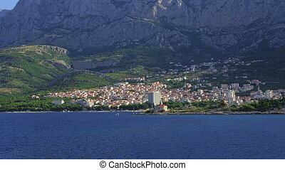 Makarska residental area - Panorama of the city of Makarska...
