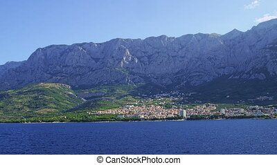 Panorama of Makarska - Panorama of the city of Makarska in...