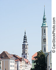 Towers of Goerlitz in Saxony (Germany)