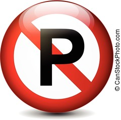 no parking sign - illustration of no parking sign isolated...