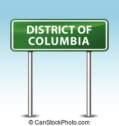 district of columbia sign - illustration of district of...