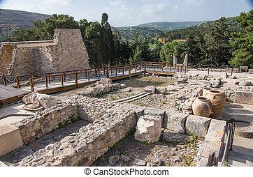 Knossos, Minoan, Palácio, crete, Grécia,