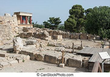 Minoan,  crete, Palácio,  Knossos, Grécia