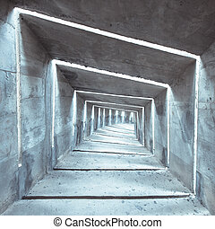 concrete tunnel - a gloomy concrete tunnel, can be used as a...