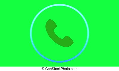 Incoming call icon - Animation Icon for cell phone isolated...