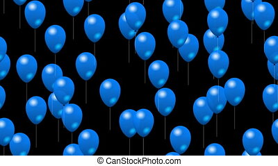 Party blue balloons generated video - Party blue balloons...