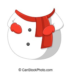 Cartoon Snowman Body Vector