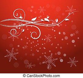 Christmas Flourish Background - Decorative Flourish...
