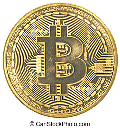 Haifa, Israel - Jan 17, 2014: Studioshot of a Bitcoin on...
