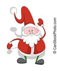 Funny Fat Kid Santa Character