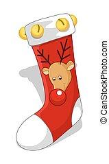 Reindeer Santa Socks