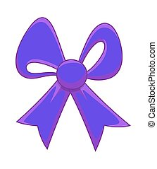 Purple Gift Ribbon Bow
