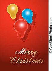 Christmas Balloons Greeting