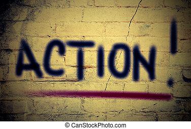 acción, concepto,