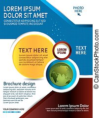 Flyer design or business presentation - Illustration for...