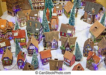 Alsatian houses - STRASSBOURG - DECEMBER 23: Colorful...