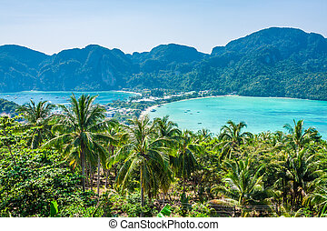 Phi-Phi island - Travel vacation background - Phi-Phi...
