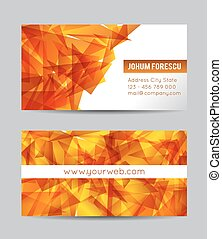 Vector abstract black creative business cards