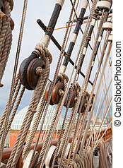 Sailing - Masts of the old sailing ship