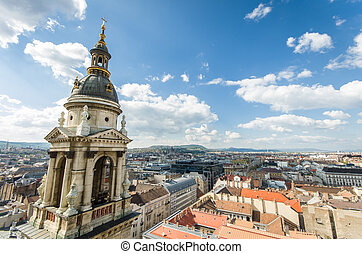 Budapest cityscape - view of Budapest from the top of St....