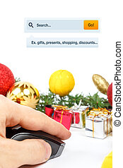 Online shopping searching for presents
