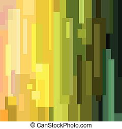Variegated rectangle background - Vector illustration of a...
