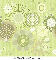 Seamless floral pattern - Vector illustration of a seamless...