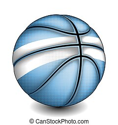 Argentine basket ball, vector