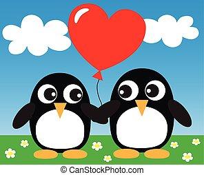 two sweet penguins i love