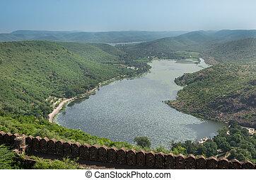 Jait Sagar Lake at Bundi, Rajasthan, India