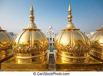 Golden temple, Amritsar - India - Harimandir Sahib at the...