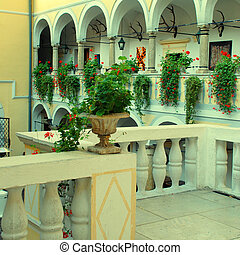The interior of old hunting castle , Austria - The interior...